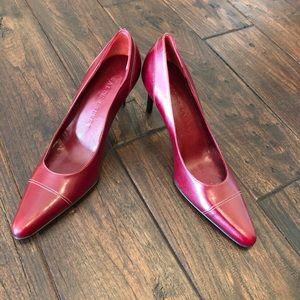 Ralph Lauren leather heels Size 5.5